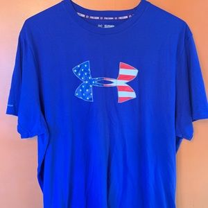 Under Armour Freedom Red White and Blue T Shirt